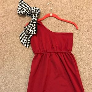 Judith March One Shoulder Bow Dress